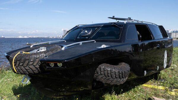 The Drozd amphibious reconnaissance and patrol vehicle, built by Baltic Machine-Building Company - Sputnik International