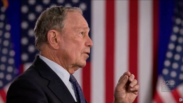 Former 2020 Democratic presidential candidate and former New York Mayor Michael Bloomberg speaks by video feed during the 4th and final night of the 2020 Democratic National Convention, as participants from across the country are hosted over video links from the originally planned site of the convention in Milwaukee, Wisconsin, U.S. August 20, 2020 - Sputnik International