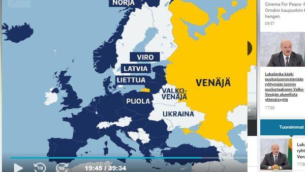 World map on Finland's Yle - Sputnik International