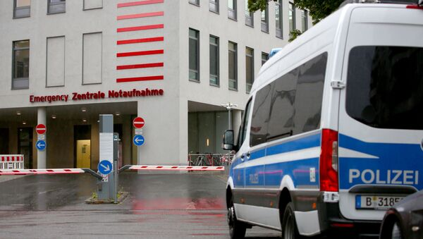 A general view shows an entrance of Charite Mitte Hospital Complex where Russian opposition leader Alexei Navalny is expected to be treated after being brought to Germany, in Berlin, Germany August 22, 2020. - Sputnik International
