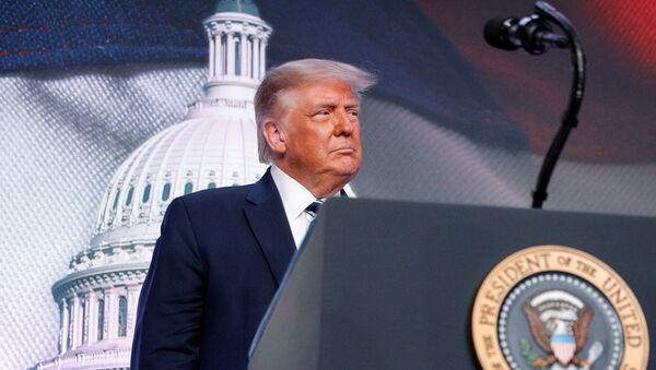 U.S. President Donald Trump arrives to speak at the 2020 Council for National Policy meeting in Arlington, Virginia, U.S., August 21, 2020. REUTERS/Tom Brenner - Sputnik International