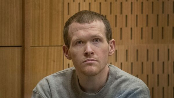 Brenton Tarrant, the gunman who shot and killed worshippers in the Christchurch mosque attacks, is seen during his sentencing at the High Court in Christchurch, New Zealand, August 24, 2020. - Sputnik International
