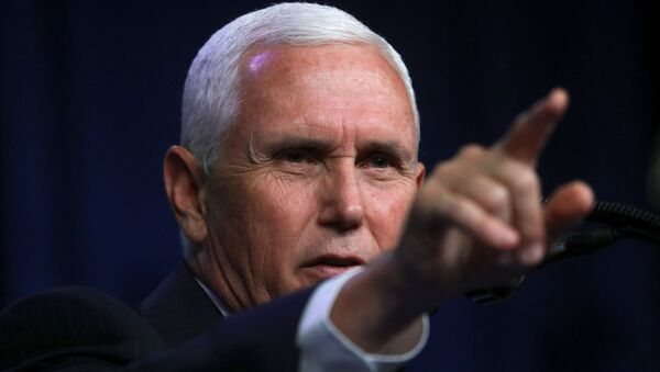 U.S. Vice President Mike Pence gestures as he speaks at the Republican National Convention, in Charlotte, North Carolina, U.S., August 24, 2020.  - Sputnik International