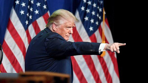 U.S. President Donald Trump points to a delegate at the Republican National Convention in Charlotte, North Carolina, U.S., August 24, 2020.  - Sputnik International
