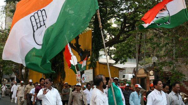 Indian National congress party rally - Sputnik International
