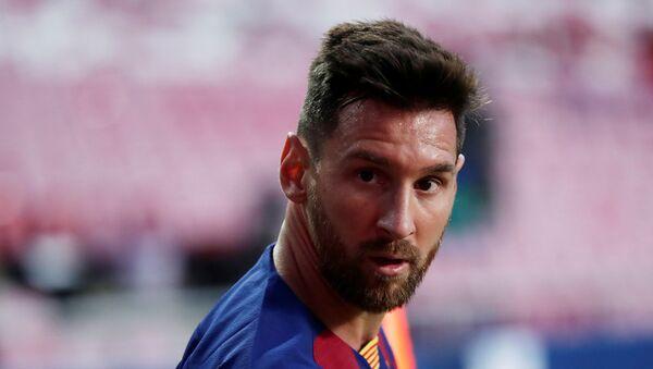 Barcelona's Lionel Messi, as play resumes behind closed doors following the outbreak of the coronavirus disease (COVID-19)  - Sputnik International