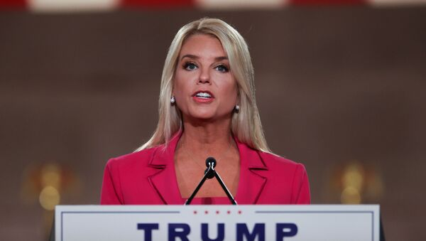 Former Florida AG of State Pam Bondi delivers a live address to the largely virtual 2020 Republican National Convention from the Mellon Auditorium in Washington, U.S., August 25, 2020. - Sputnik International