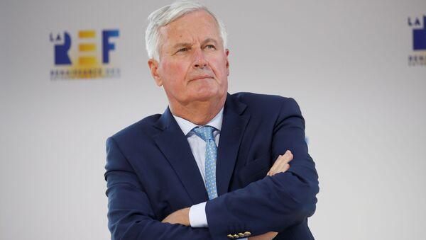 EU's Brexit negotiator Michel Barnier attends the MEDEF union summer forum La Rencontre des Entrepreneurs de France, LaREF, at the Paris Longchamp Racecourse in Paris, France, August 26, 2020 - Sputnik International