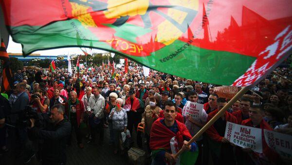 Pro-Lukashenko rally in Minsk - Sputnik International