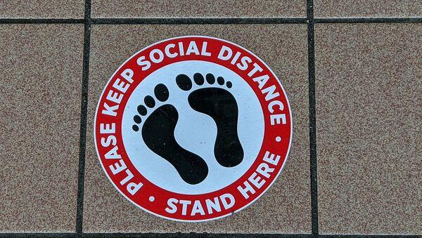 Social distance feet - Sputnik International