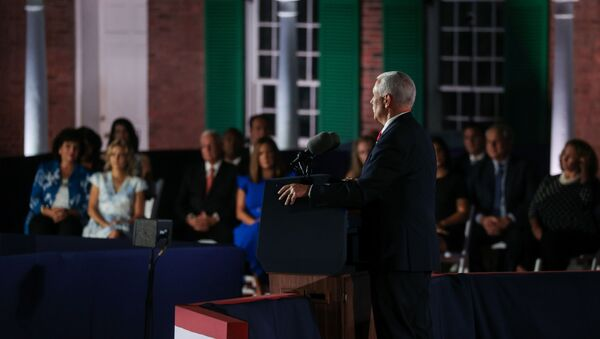 US Vice President Mike Pence delivers his acceptance speech as the 2020 Republican vice presidential nominee during an event of the 2020 Republican National Convention held at Fort McHenry in Baltimore, Maryland, U.S, August 26, 2020 - Sputnik International
