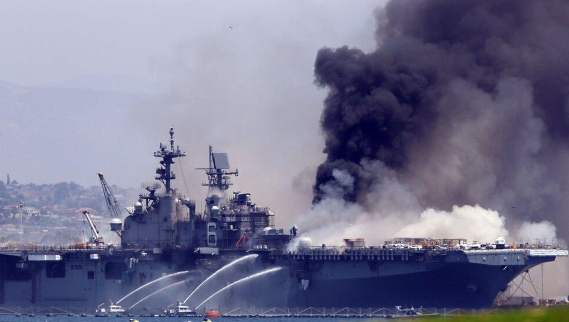 Sailor Investigated for Arson in U.S.S. Bonhomme Richard Fire - Sputnik International, 1920, 29.07.2021
