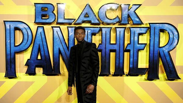 Actor Chadwick Boseman arrives at the premiere of the new Marvel superhero film 'Black Panther' in London, Britain February 8, 2018 - Sputnik International