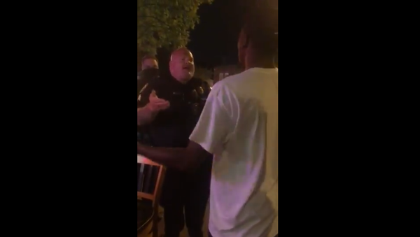 Columbia, SC: well-fed white cop ranting at length about the meaning of the word...  ...well, you can guess which one  29 August 2020 PM - Sputnik International