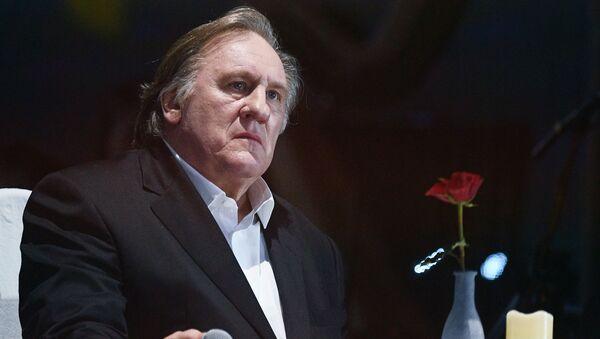 Actor Gerard Depardieu at a concert to mark Vladimir Vysotsky's 80th anniversary of birth at the Rossiya State Central Concert Hall in Luzhniki - Sputnik International