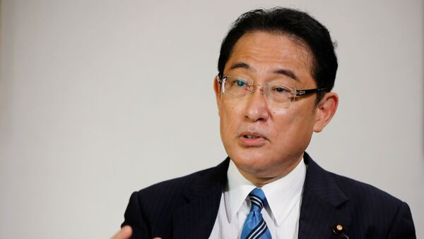 Fumio Kishida, policy chief of Japan's ruling Liberal Democratic Party (LDP) and former foreign minister, who has declared his candidacy for the party leadership election to choose the successor of Prime Minister Shinzo Abe, speaks during an interview with Reuters at LDP headquarters in Tokyo, Japan September 2, 2020. - Sputnik International