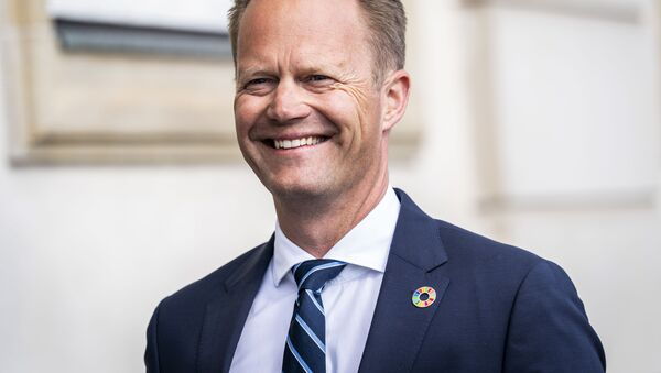 Danish Foreign Minister Jeppe Kofod arrives for a press conference in Eigtved's Warehouse in Copenhagen, on 21 July 2020, on the eve of US Secretary of State Mike Pompeo's visit to Copenhagen.  - Sputnik International