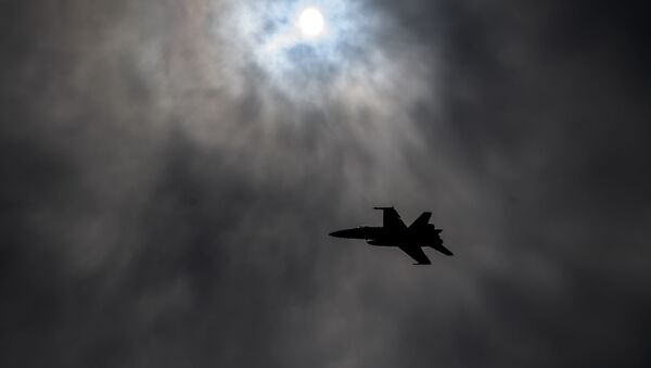 A Boeing McDonnell Douglas F/A-18 Hornet takes off at Payerne Air Base, on June 7, 2019 in Payerne. - Switzerland is running flight and ground tests, as it is looking for a new fighter jet to replace its aging fleet. - Sputnik International