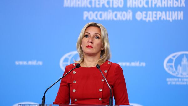 Russian Foreign Ministry spokeswoman Maria Zakharova during her briefing in Moscow - Sputnik International