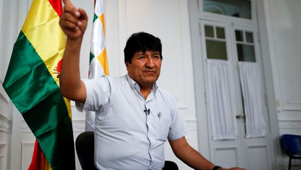 Former Bolivian President Evo Morales gestures during an interview with Reuters, in Buenos Aires, Argentina March 2, 2020. Picture taken March 2, 2020. - Sputnik International
