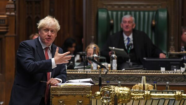 Britain's Prime Minister Boris Johnson speaks during question period at the House of Commons in London, Britain September 2, 2020 - Sputnik International