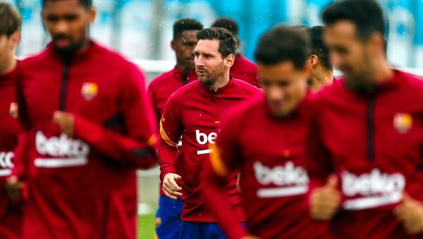 First workout of the day Lionel Messi - Sputnik International