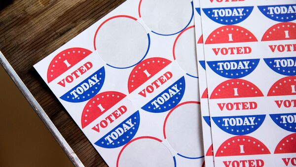 Stickers saying I Voted Today are given out to voters in the Democratic primary in Philadelphia, Pennsylvania, U.S., June 2, 2020 - Sputnik International