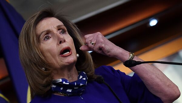 US Speaker of the House Nancy Pelosi (D-CA) speaks to reporters during her weekly press conference at the US Capitol on August 27, 2020 in Washington, DC.  - Sputnik International