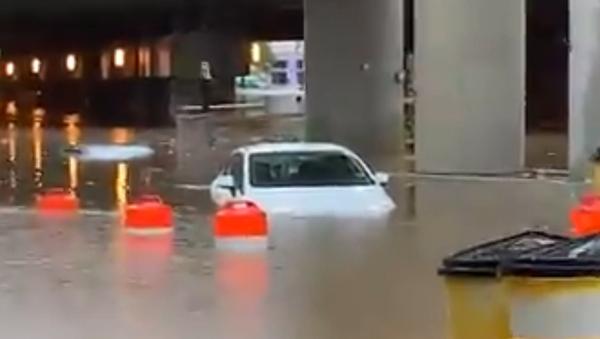 Heavy Rains Flood White House Basement, Submerge Roads Around Washington, DC - Sputnik International