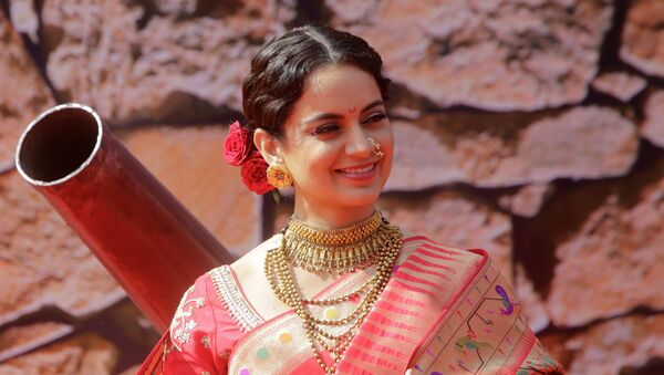 Bollywood actress Kangana Ranaut smiles during the trailer launch of her movie Manikarnika- The Queen of Jhansi in Mumbai, India, Tuesday, 18 December 2018. - Sputnik International