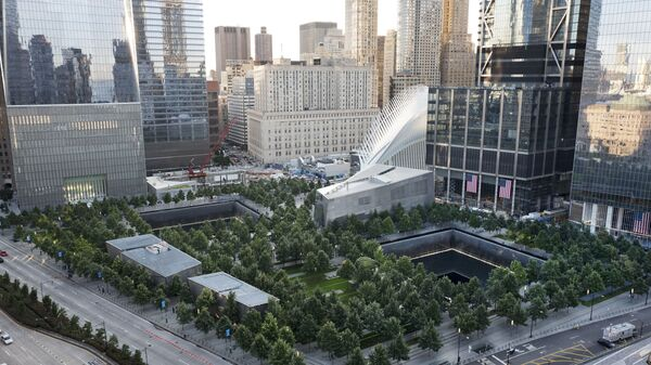 The National September 11 Memorial and Museum are set for a memorial service, Monday, Sept. 11, 2017, in New York. Thousands of 9/11 victims' relatives, survivors, rescuers and others are expected to gather Monday at the World Trade Center to remember the deadliest terror attack on American soil. Nearly 3,000 people died when hijacked planes slammed into the trade center, the Pentagon and a field near Shanksville, Pa., on Sept. 11, 2001.  - Sputnik International