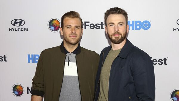 Scott Evans, left, and Chris Evans, right, attend the NewFest LGBTQ film festival opening night gala screening of Sell By at the SVA Theatre on Wednesday, Oct. 23, 2019, in New York - Sputnik International
