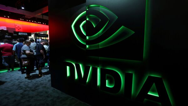 FILE PHOTO: The Nvidia booth is shown at the E3 2017 Electronic Entertainment Expo in Los Angeles, California, U.S., June 13, 2017. REUTERS/ Mike Blake/File Photo - Sputnik International