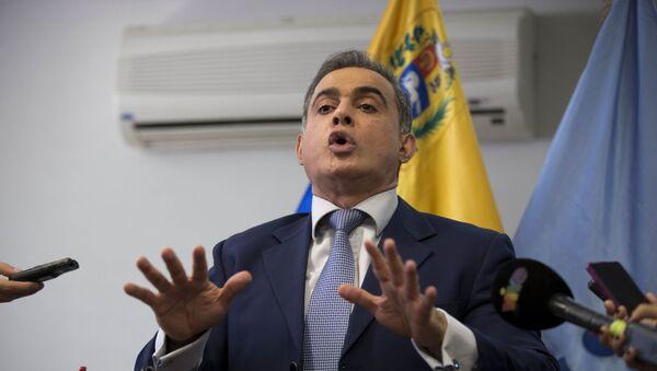 In this April 3, 2017 file photo, Venezuela's Ombudsman Tarek William Saab speaks during a press conference in Caracas, Venezuela. - Sputnik International