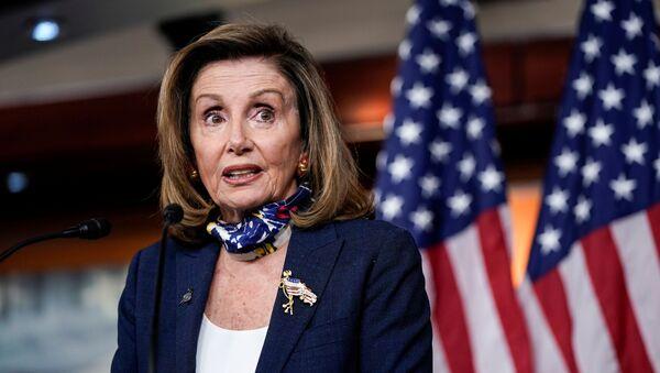 Speaker of the House Nancy Pelosi (D-CA) speaks during a briefing to the media on Capitol Hill in Washington, U.S., September 10, 2020.    - Sputnik International