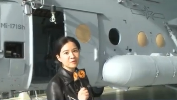 An Mi-171Sh painted in Chinese People's Liberation Army Aviation livery at the Ulan-Ude Aviation Plant in Russia - Sputnik International