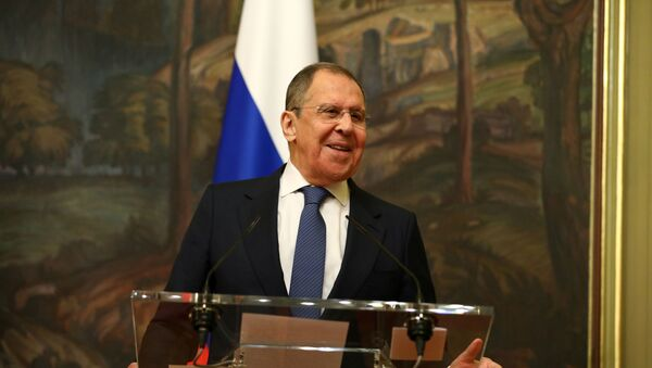 Russia's Foreign Minister Sergei Lavrov attends a news briefing after a meeting with China's State Councilor Wang Yi  in Moscow, Russia September 11, 2020.  - Sputnik International