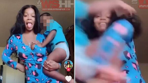 TikTok challenge has parents THROWING their young children off-camera to Blueface's song Baby: Social media users dancing and lip-syncing to the song Baby by Blueface. The artist raps: 'No baby, we can't have the baby. If you don't take this Plan B,…  - Sputnik International