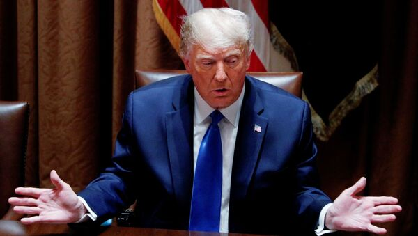 U.S. President Donald Trump speaks during a discussion with state attorneys general on social media abuses in the Cabinet Room at the White House in Washington, U.S., September 23, 2020. - Sputnik International