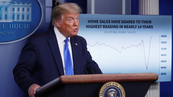 U.S. President Donald Trump speaks to reporters during a news conference in the Brady Press Briefing Room at the White House in Washington, U.S., September 23, 2020.  - Sputnik International