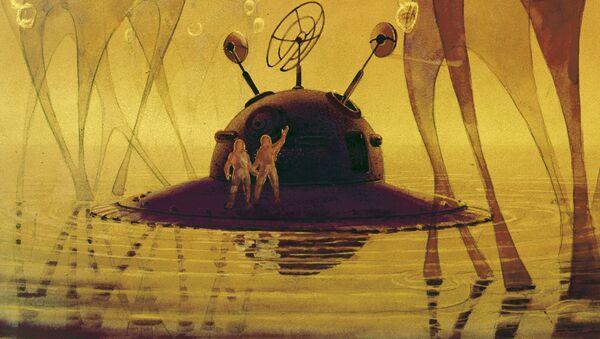 'Extraterrestrial Life', painting by artist Andrei Sokolov. - Sputnik International