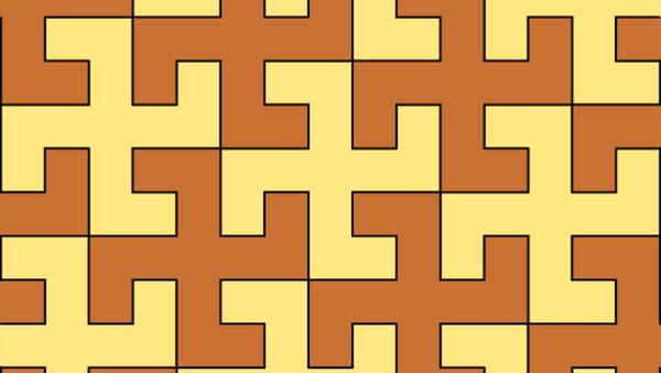 Tiling of the plane using equal swastikas in two alternating colours. - Sputnik International