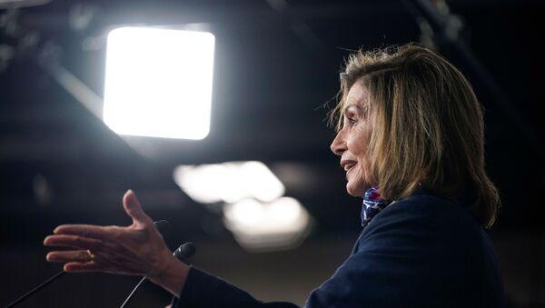 Speaker of the House Nancy Pelosi (D-CA) speaks during a briefing to the media on Capitol Hill in Washington, U.S., September 10, 2020 - Sputnik International