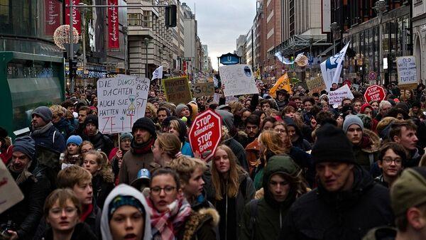 Global Climate Strike Berlin Fridays For Future demonstration (File) - Sputnik International