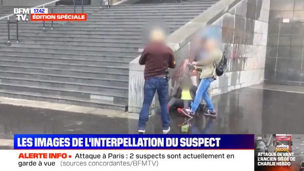 The arrest of main suspect of a stabbing attack in Paris on 25 September, 2020. - Sputnik International