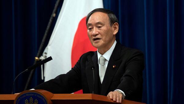 Yoshihide Suga speaks during a news conference following his confirmation as Prime Minister of Japan in Tokyo, Japan September 16, 2020. - Sputnik International
