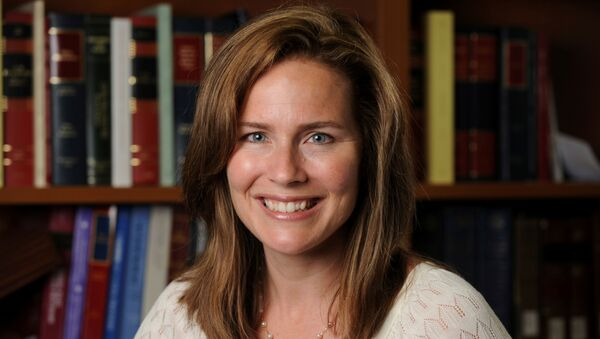 Judge Amy Coney Barrett poses in an undated photograph obtained from Notre Dame University - Sputnik International