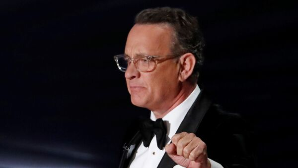 Tom Hanks makes the Academy Museum 2020 opening announcement at the Oscars show during the 92nd Academy Awards in Hollywood, Los Angeles, California, U.S., February 9, 2020 - Sputnik International