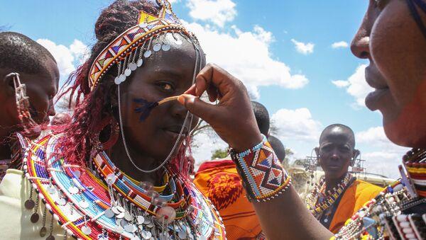 Initiation ritual of Junior Warriors Into Elders in African Maasai Tribe - Sputnik International