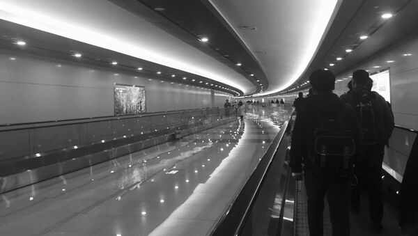 Passengers walking in Gimpo airport in Seoul, South Korea - Sputnik International